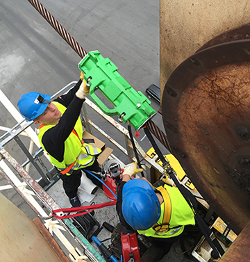 Portable steel-wire-rope inspection solutions